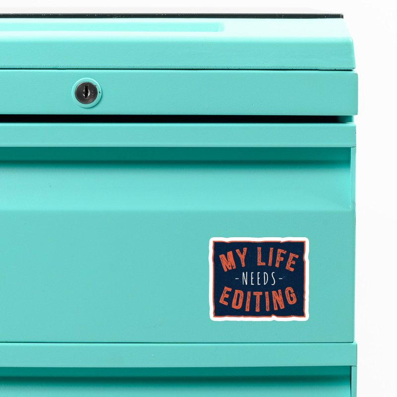 My Life Needs Editing Accessories Magnet by Toxic Onion