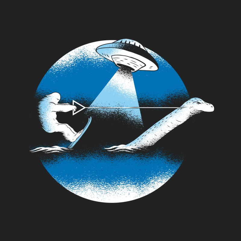 Cryptid Water Skiing Men's T-Shirt by Toxic Onion