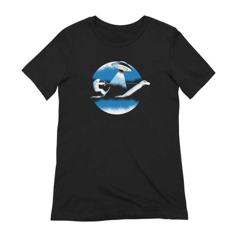 Cryptid Water Skiing Women's Extra Soft T-Shirt by Toxic Onion