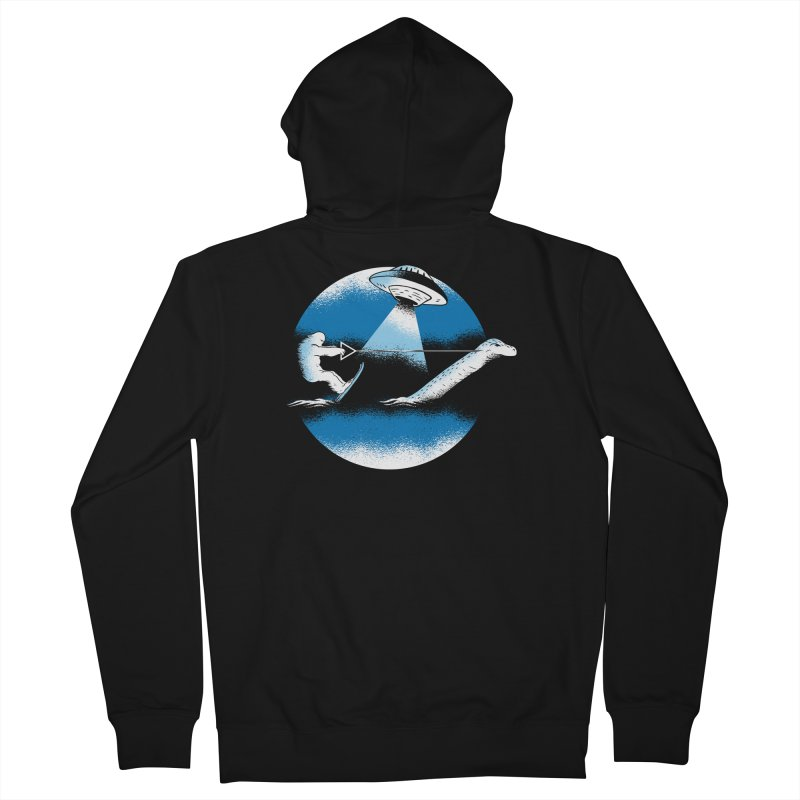 Cryptid Water Skiing Men's French Terry Zip-Up Hoody by Toxic Onion