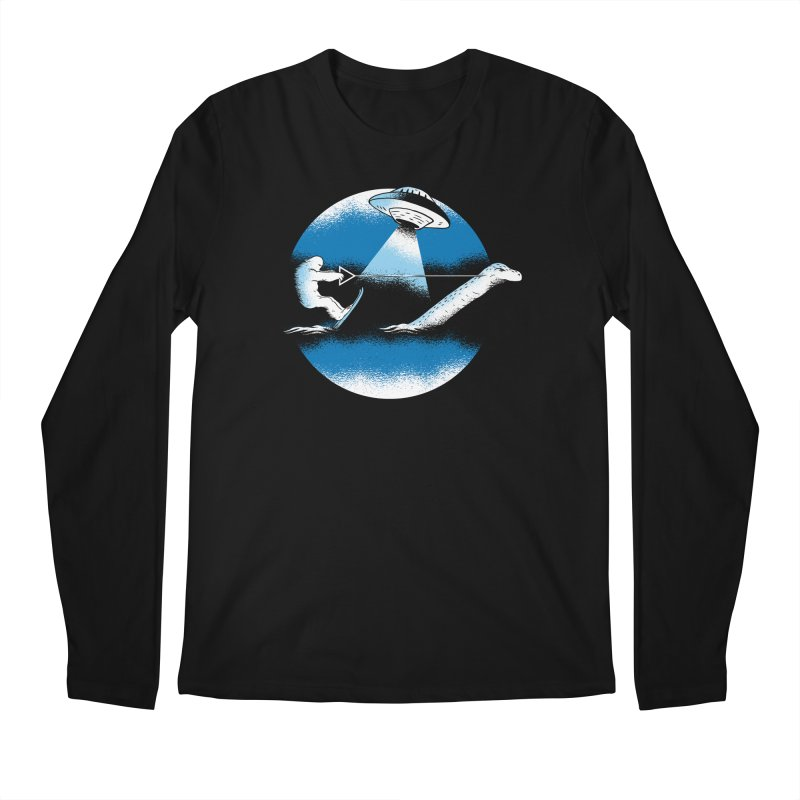 Cryptid Water Skiing Men's Regular Longsleeve T-Shirt by Toxic Onion