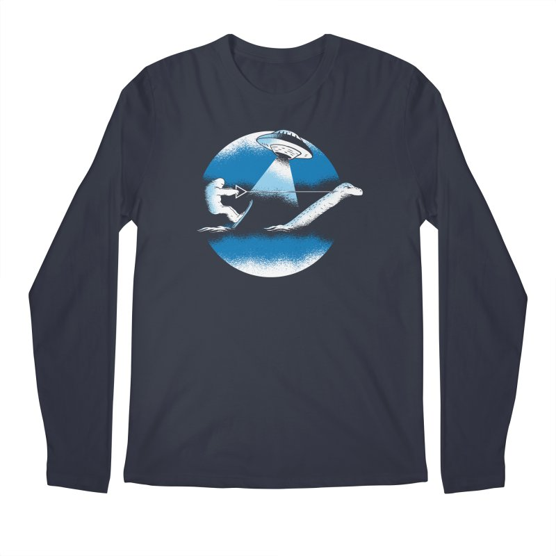 Cryptid Water Skiing Men's Longsleeve T-Shirt by Toxic Onion