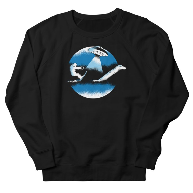 Cryptid Water Skiing Men's French Terry Sweatshirt by Toxic Onion