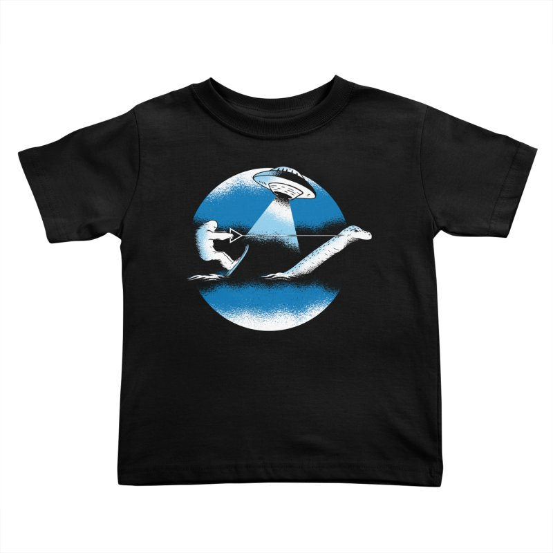 Cryptid Water Skiing Kids Toddler T-Shirt by Toxic Onion