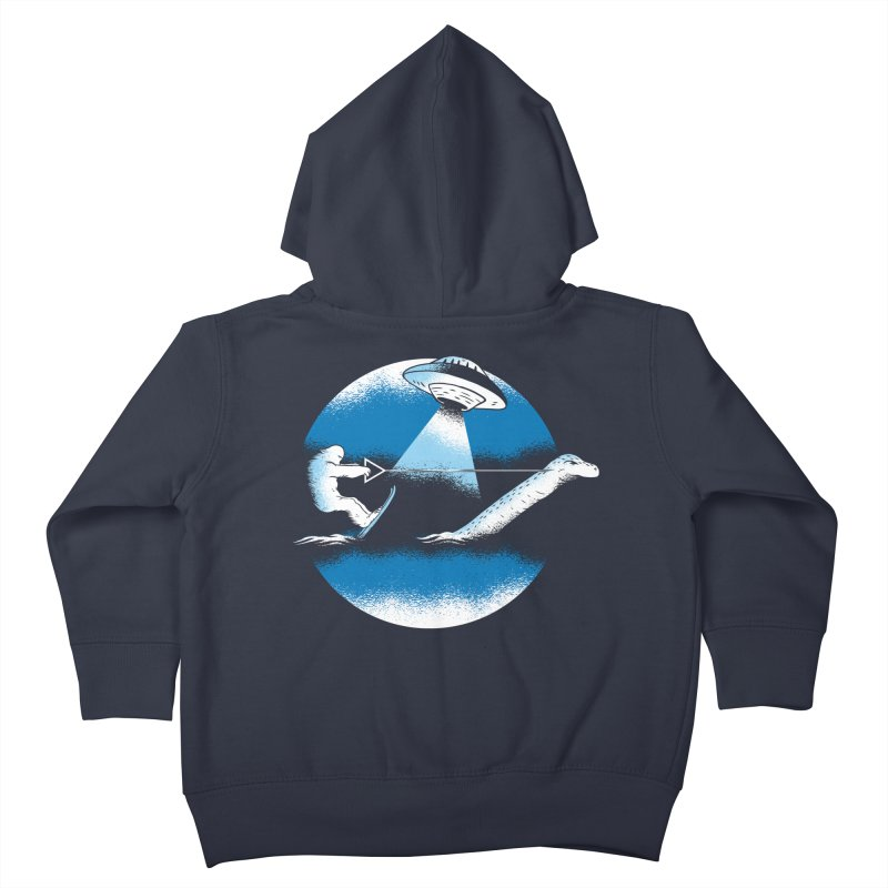 Cryptid Water Skiing Kids Toddler Zip-Up Hoody by Toxic Onion