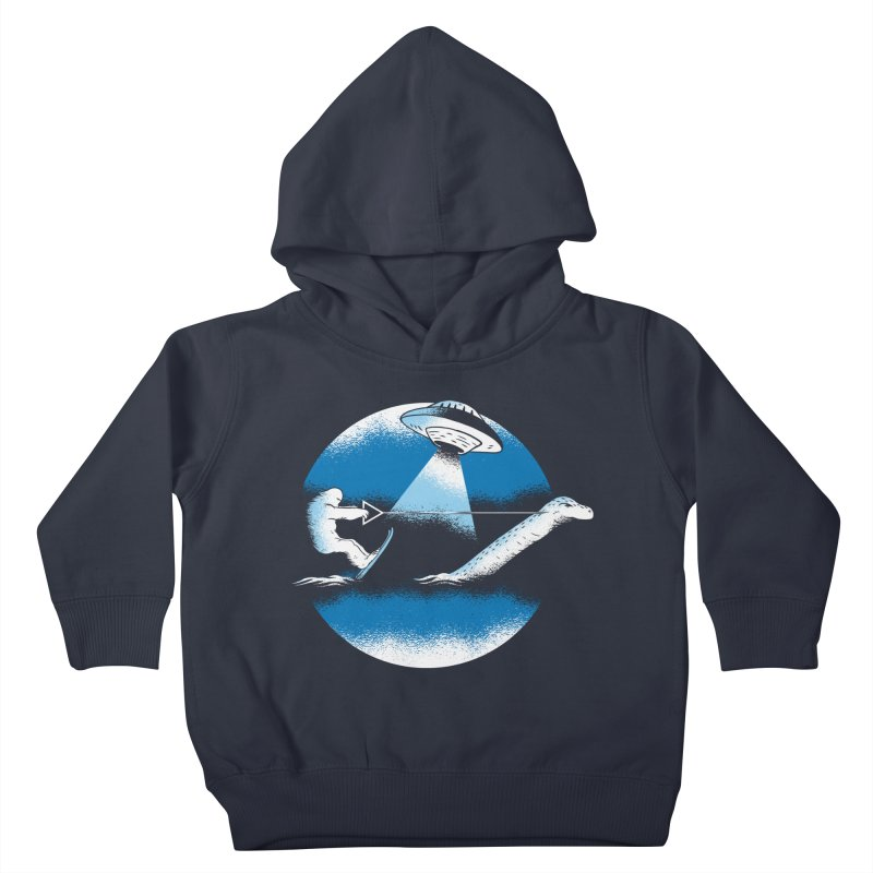 Cryptid Water Skiing Kids Toddler Pullover Hoody by Toxic Onion