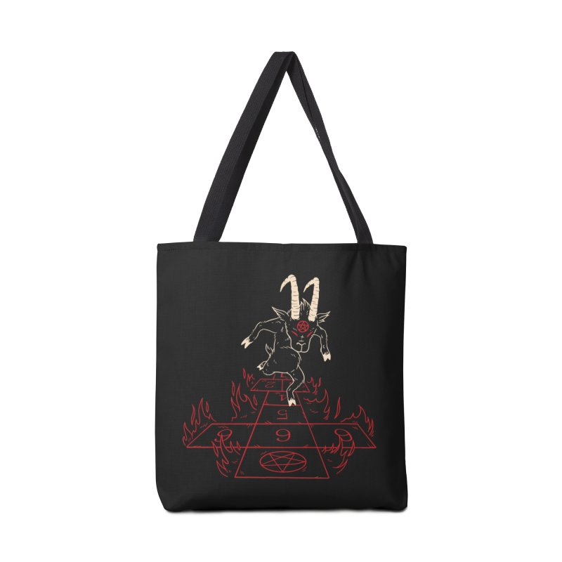 Hopscotch To Hell Accessories Tote Bag Bag by Toxic Onion