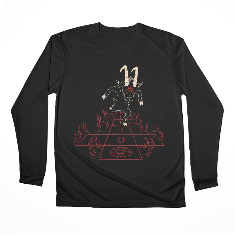 Hopscotch To Hell Men's Longsleeve T-Shirt by Toxic Onion