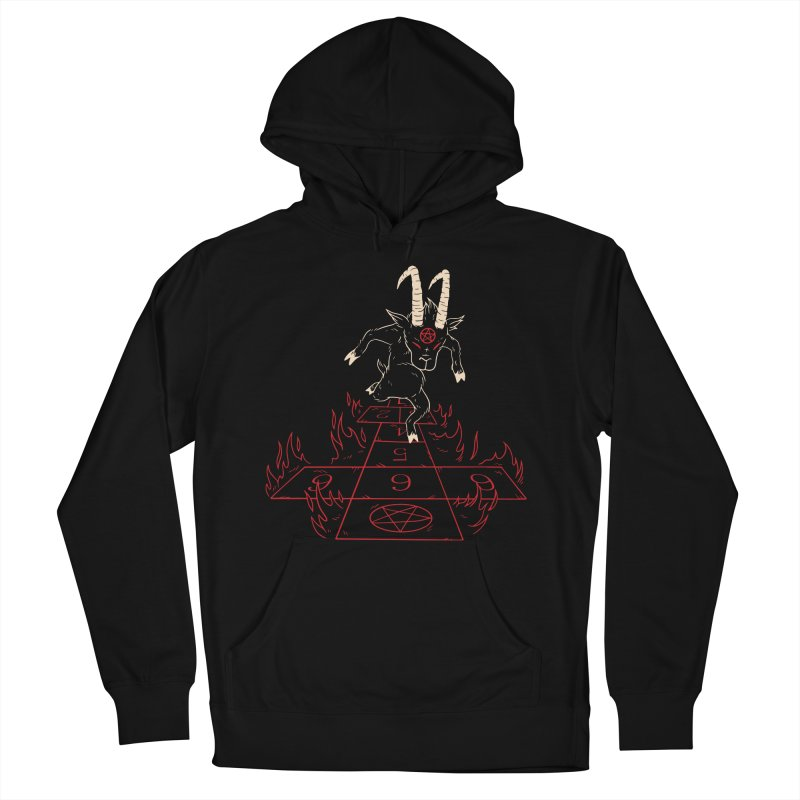 Hopscotch To Hell Men's French Terry Pullover Hoody by Toxic Onion
