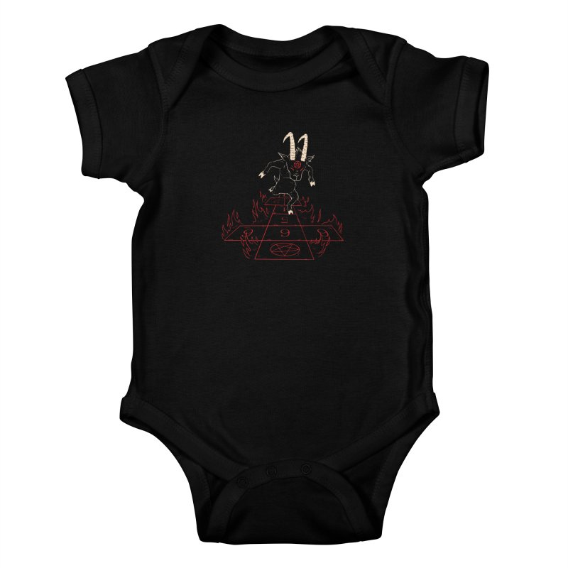 Hopscotch To Hell Kids Baby Bodysuit by Toxic Onion