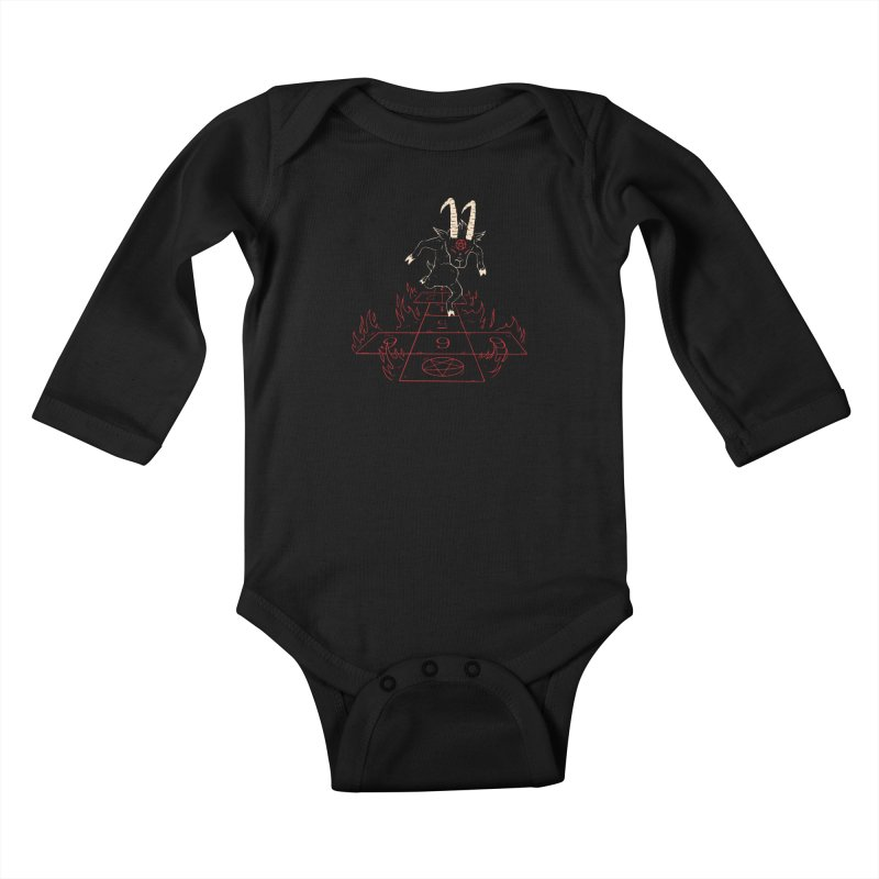 Hopscotch To Hell Kids Baby Longsleeve Bodysuit by Toxic Onion