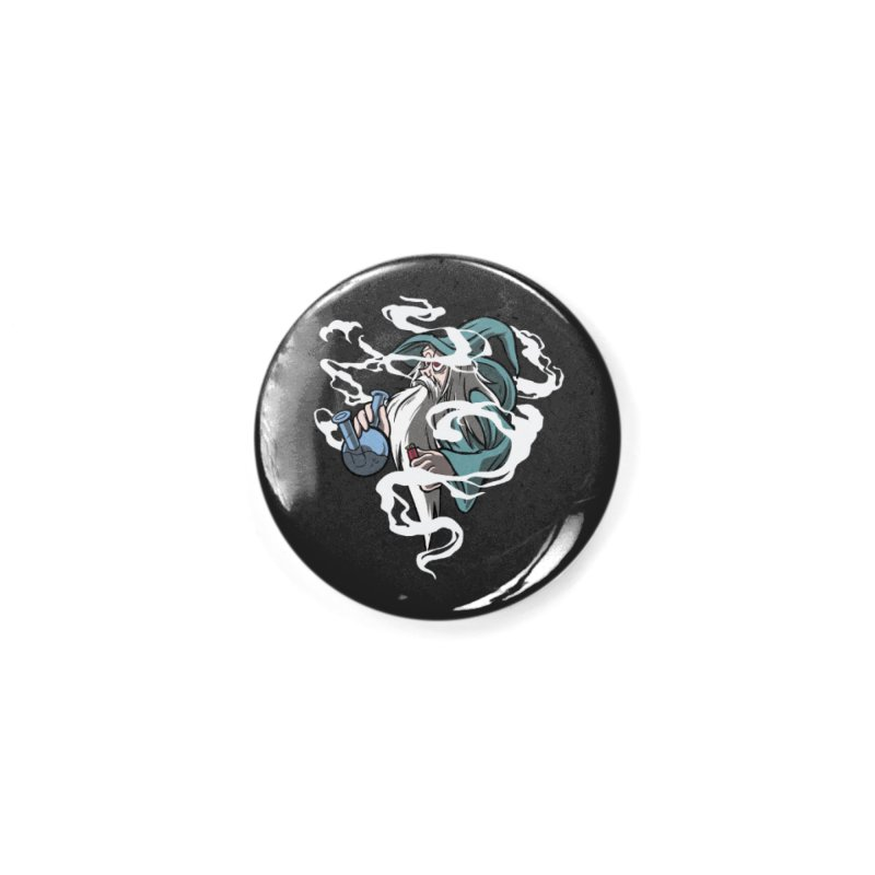 Bong Smoking Wizard Accessories Button by Toxic Onion