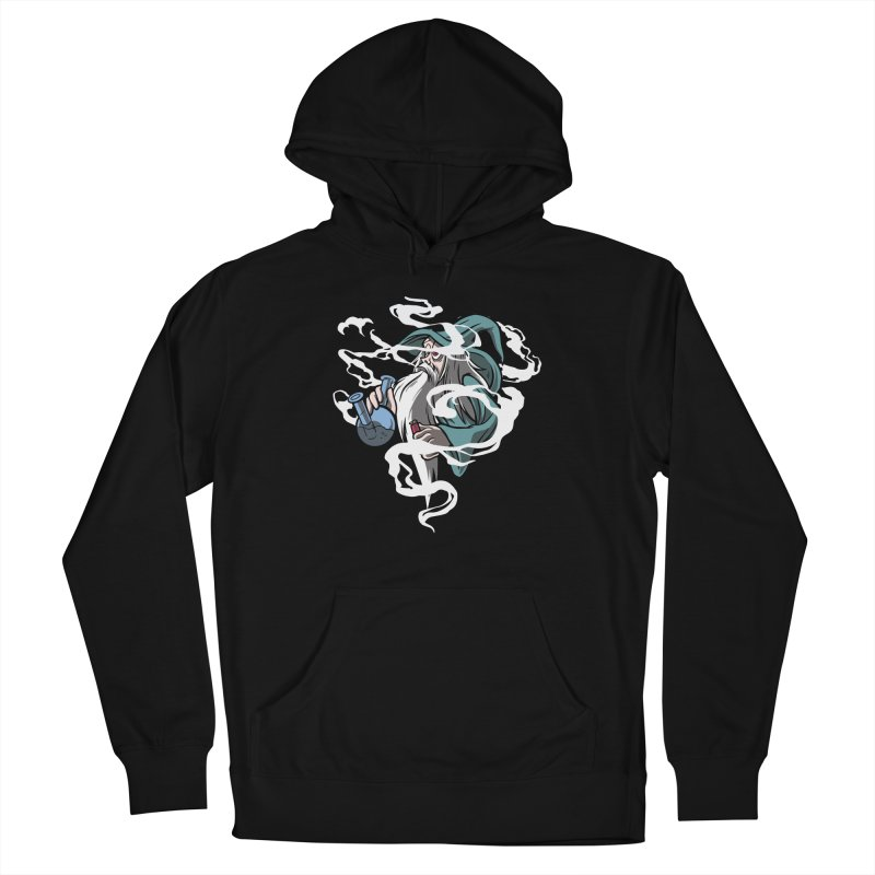 Bong Smoking Wizard Women's French Terry Pullover Hoody by Toxic Onion