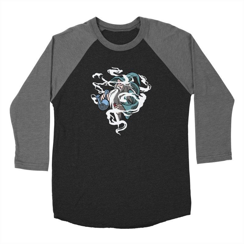 Bong Smoking Wizard Women's Baseball Triblend Longsleeve T-Shirt by Toxic Onion