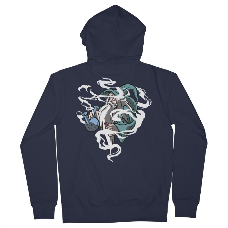 Bong Smoking Wizard Men's Zip-Up Hoody by Toxic Onion