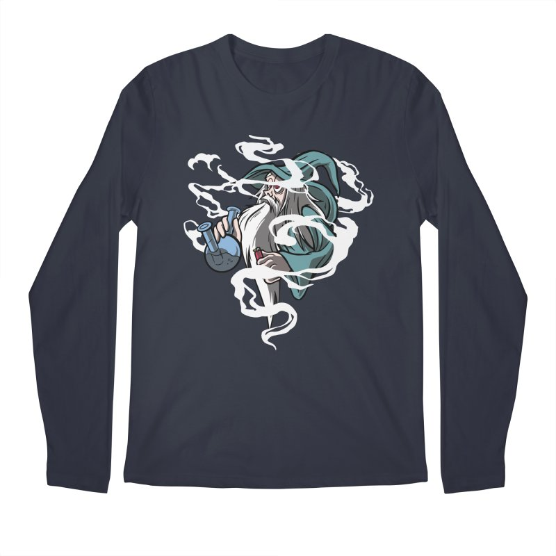 Bong Smoking Wizard Men's Longsleeve T-Shirt by Toxic Onion