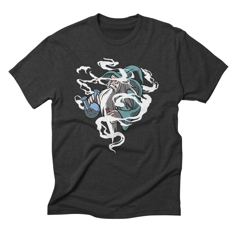 Bong Smoking Wizard Men's T-Shirt by Toxic Onion