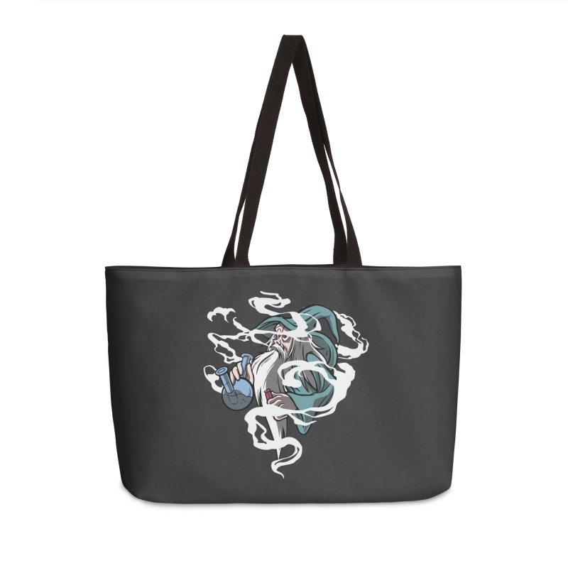Bong Smoking Wizard Accessories Weekender Bag Bag by Toxic Onion