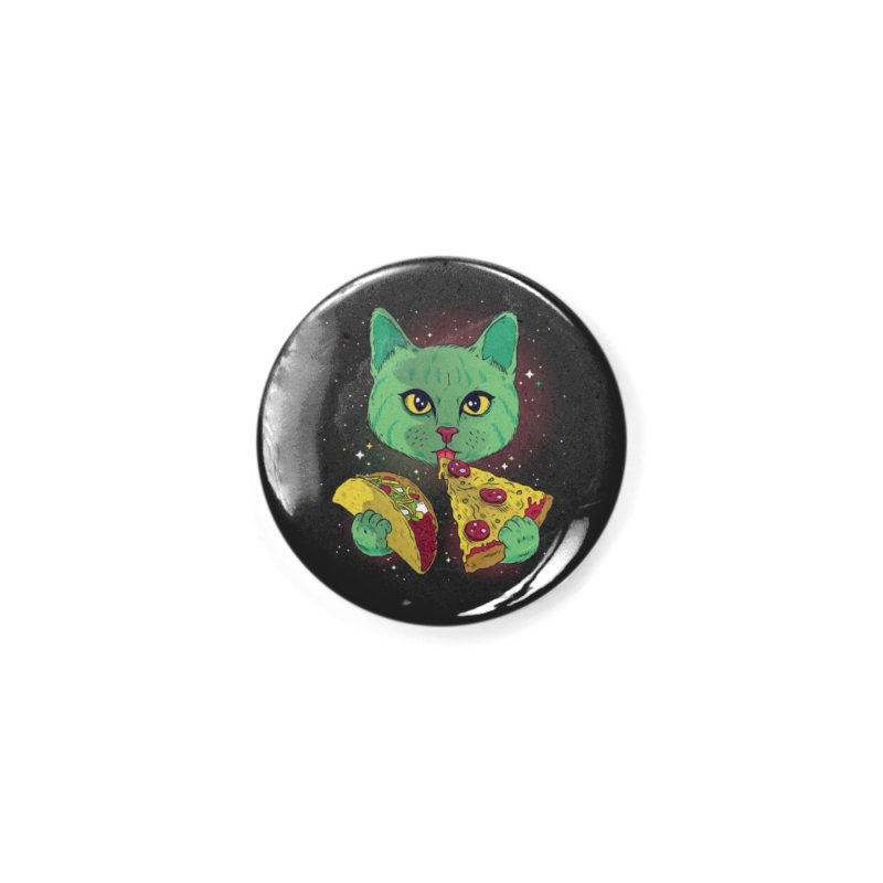 Taco Pizza Cat Accessories Button by Toxic Onion