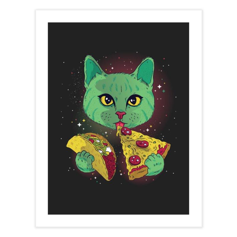 Taco Pizza Cat Home Fine Art Print by Toxic Onion