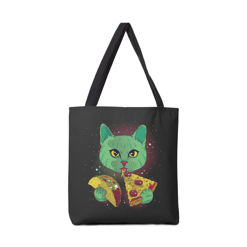 Taco Pizza Cat Accessories Tote Bag Bag by Toxic Onion