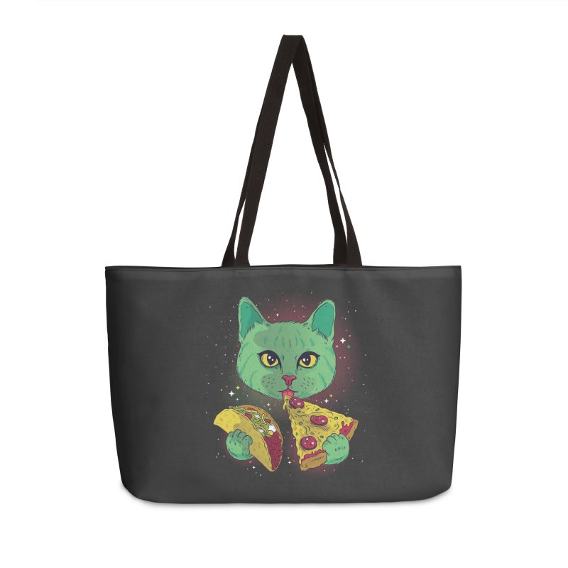 Taco Pizza Cat Accessories Weekender Bag Bag by Toxic Onion