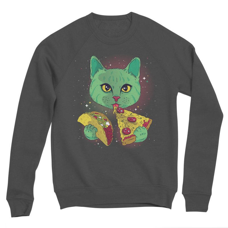 Taco Pizza Cat Women's Sponge Fleece Sweatshirt by Toxic Onion