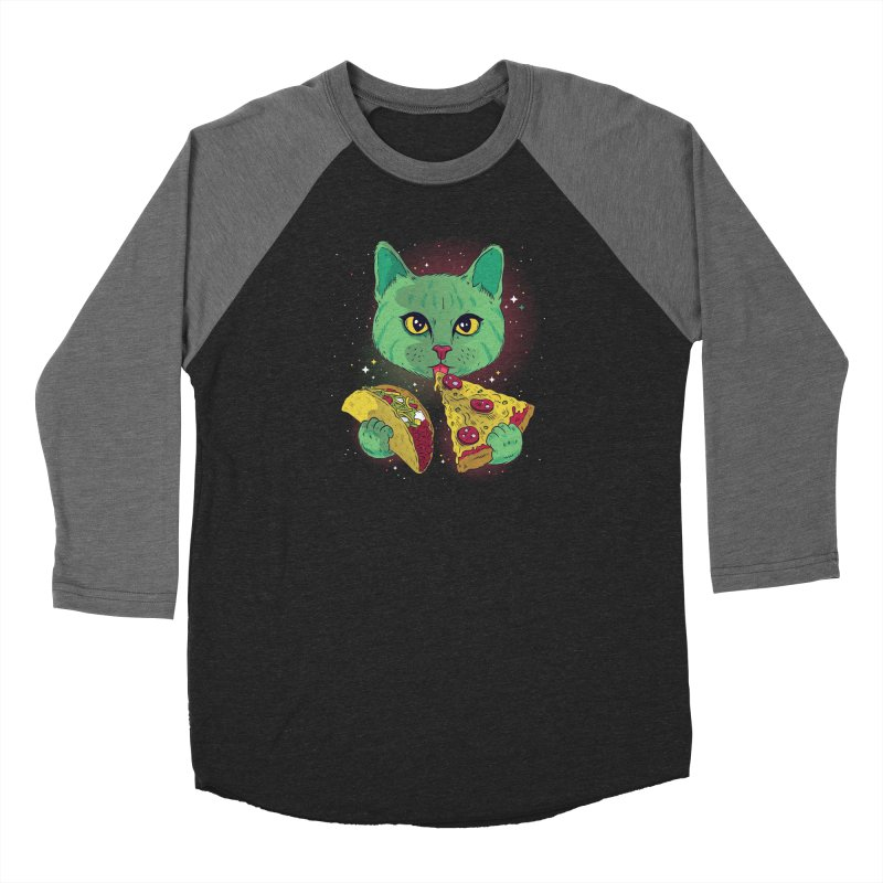 Taco Pizza Cat Women's Baseball Triblend Longsleeve T-Shirt by Toxic Onion