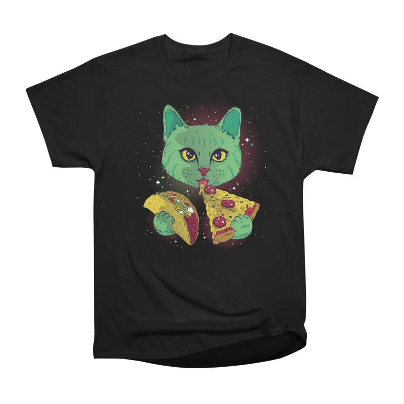 Taco Pizza Cat Men's Heavyweight T-Shirt by Toxic Onion