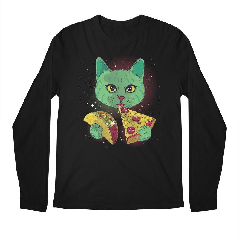 Taco Pizza Cat Men's Regular Longsleeve T-Shirt by Toxic Onion