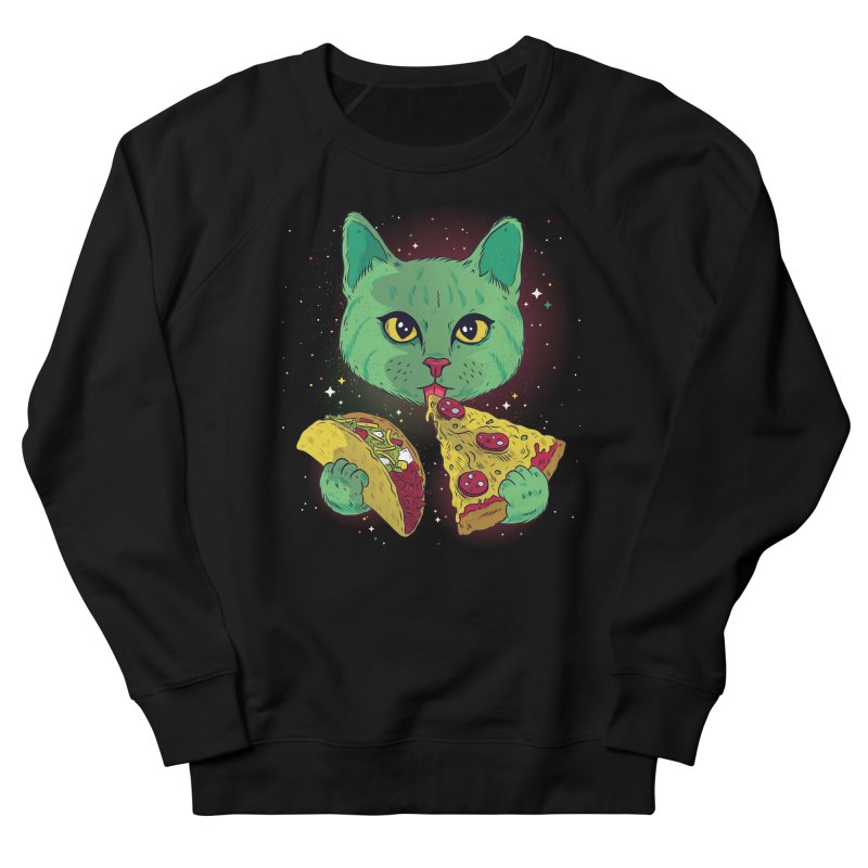 Taco Pizza Cat Men's French Terry Sweatshirt by Toxic Onion