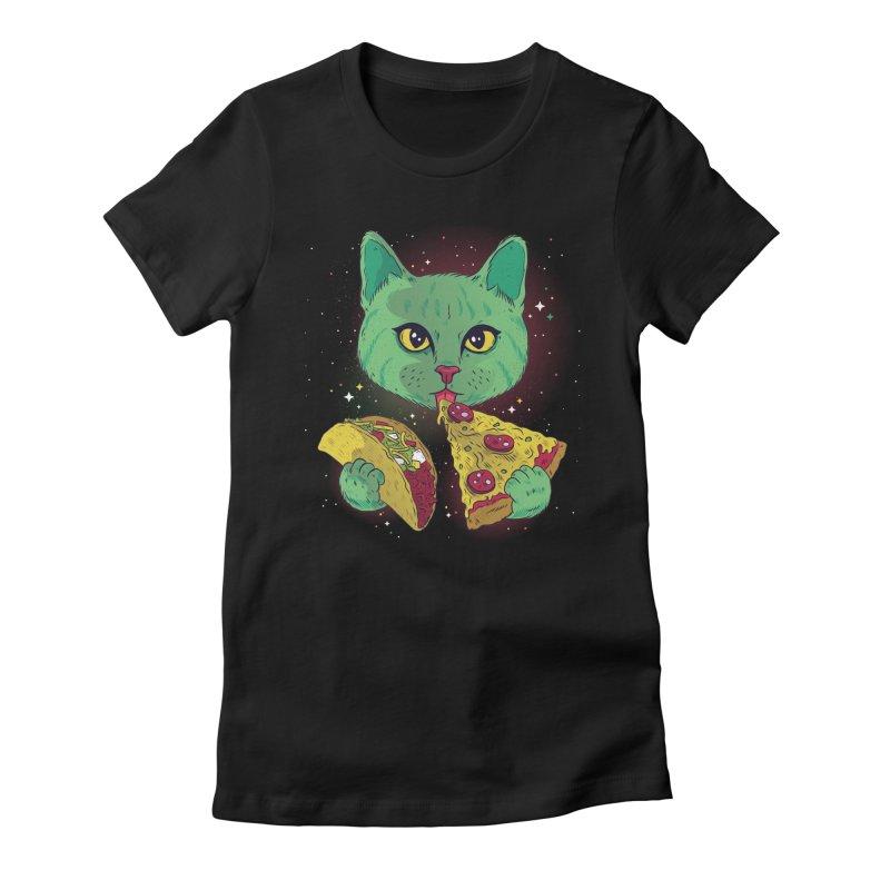 Taco Pizza Cat Women's T-Shirt by Toxic Onion