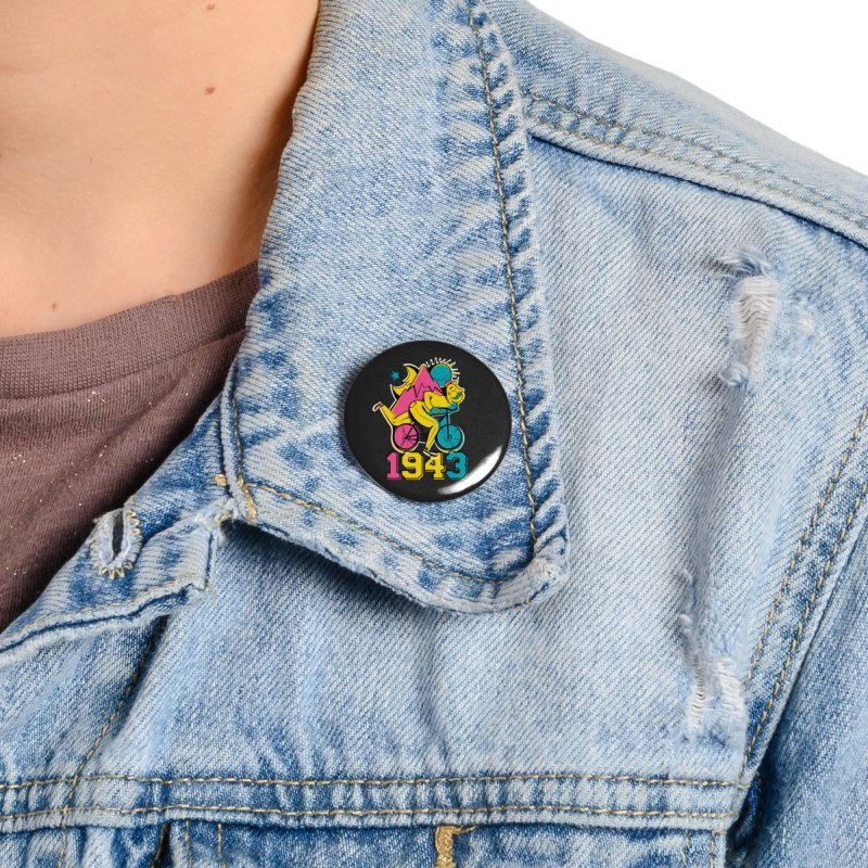LSD Bicycle Day Accessories Button by Toxic Onion