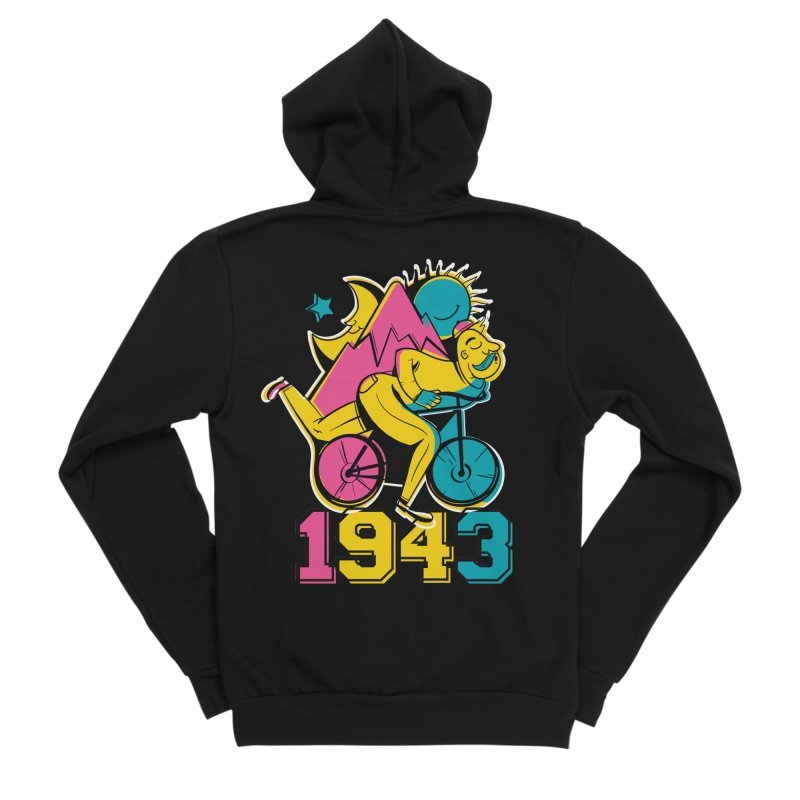 LSD Bicycle Day Men's Zip-Up Hoody by Toxic Onion