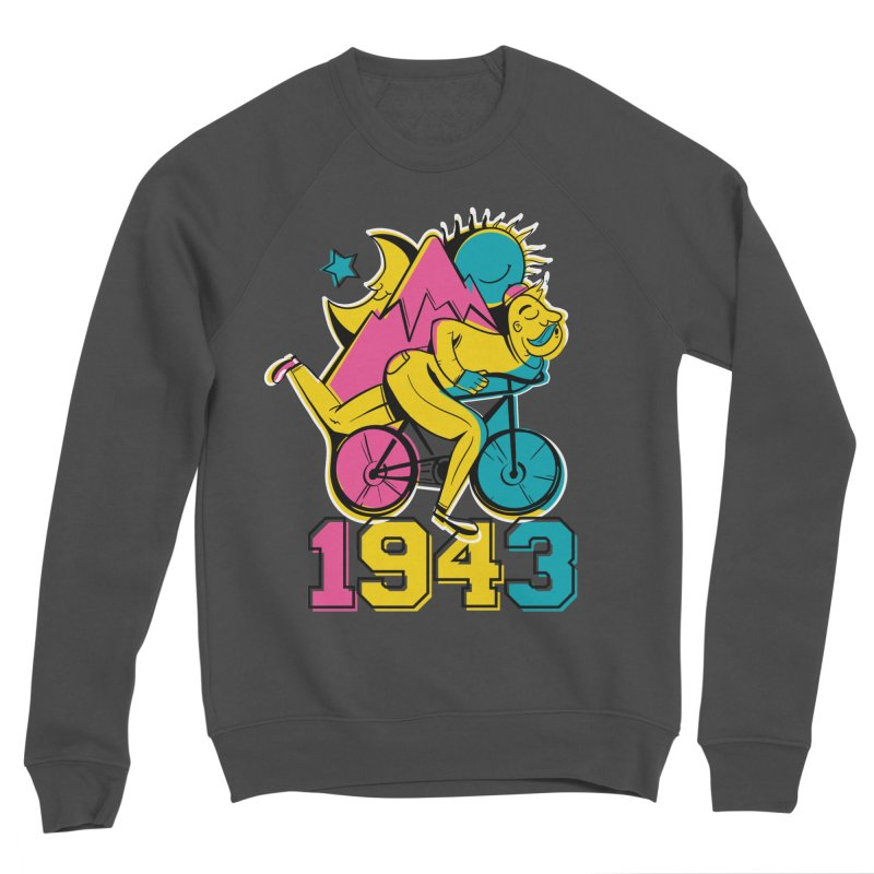 LSD Bicycle Day Women's Sponge Fleece Sweatshirt by Toxic Onion