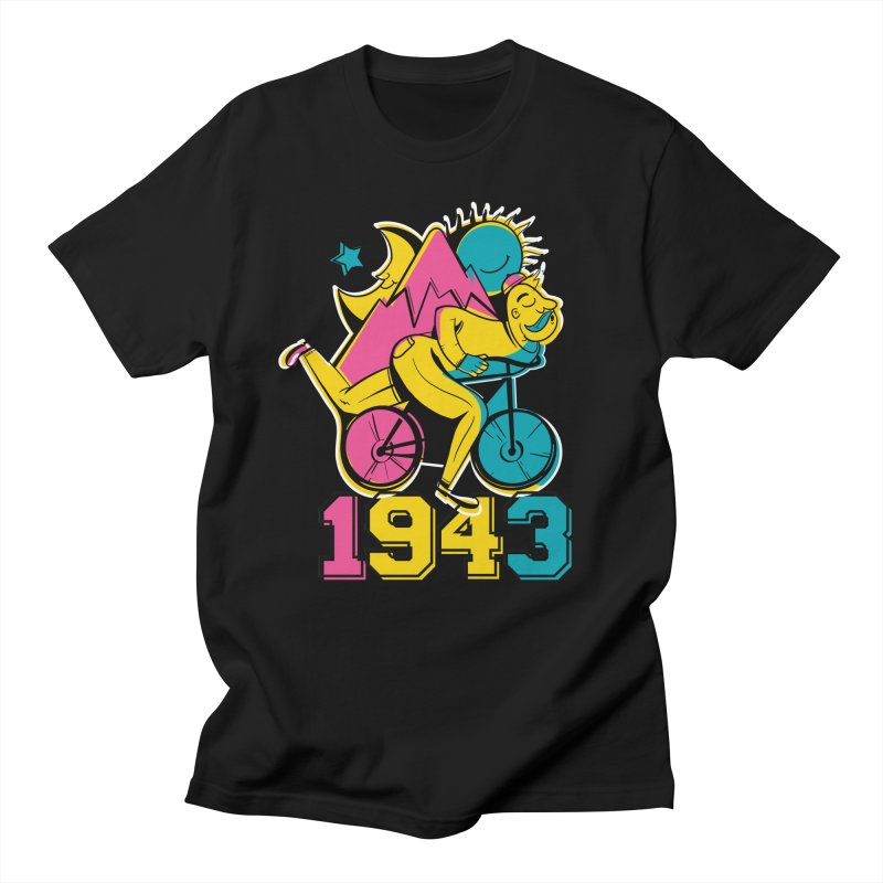 LSD Bicycle Day Men's T-Shirt by Toxic Onion