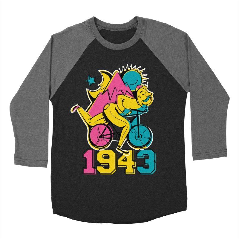 LSD Bicycle Day Women's Baseball Triblend Longsleeve T-Shirt by Toxic Onion
