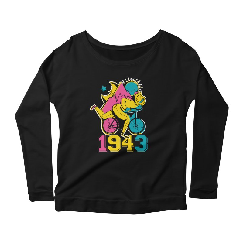 LSD Bicycle Day Women's Scoop Neck Longsleeve T-Shirt by Toxic Onion