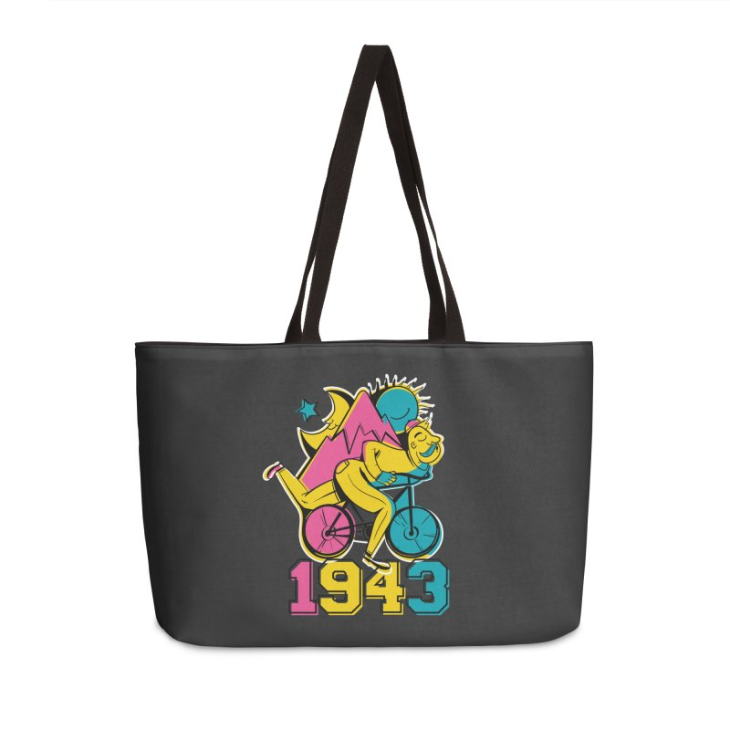 LSD Bicycle Day Accessories Weekender Bag Bag by Toxic Onion