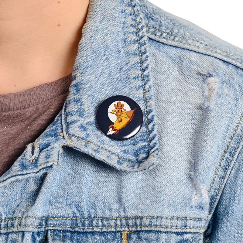 Space Cowboy Accessories Button by Toxic Onion