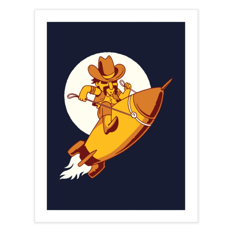 Space Cowboy Home Fine Art Print by Toxic Onion