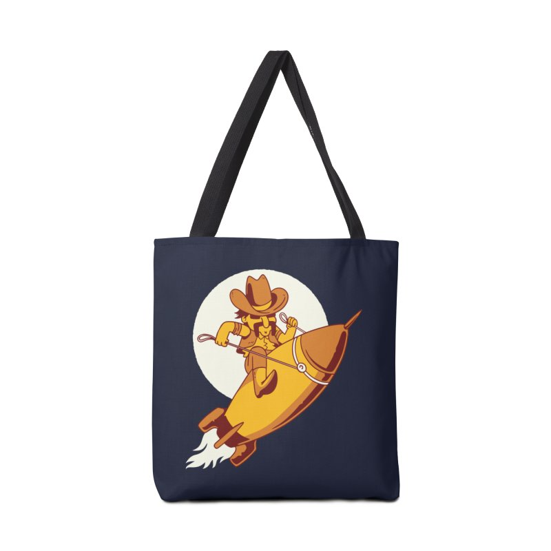 Space Cowboy Accessories Tote Bag Bag by Toxic Onion