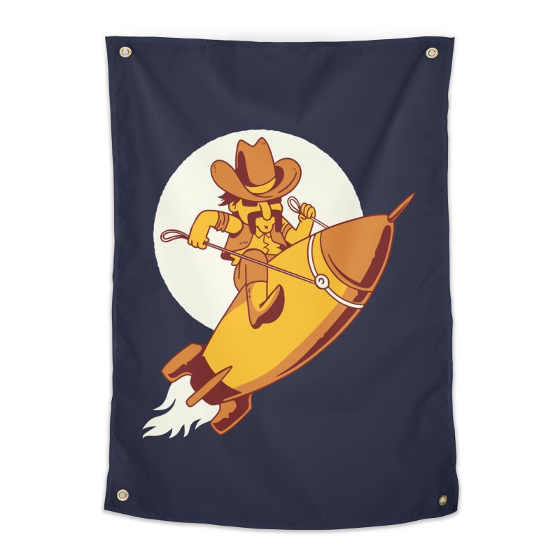 Space Cowboy Home Tapestry by Toxic Onion