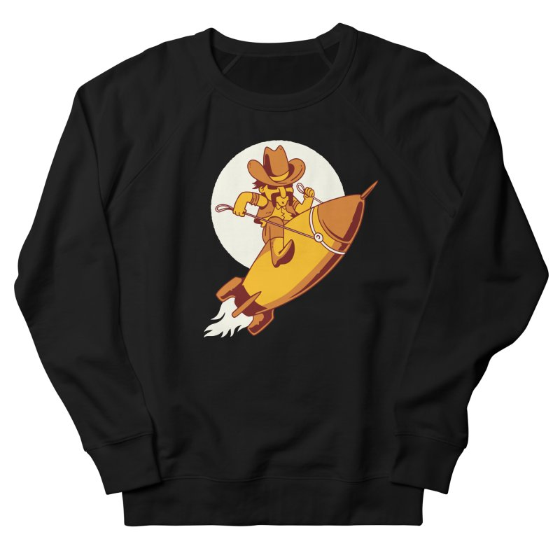 Space Cowboy Men's French Terry Sweatshirt by Toxic Onion
