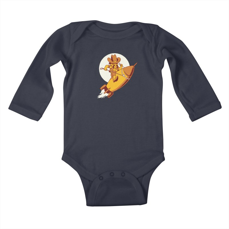 Space Cowboy Kids Baby Longsleeve Bodysuit by Toxic Onion