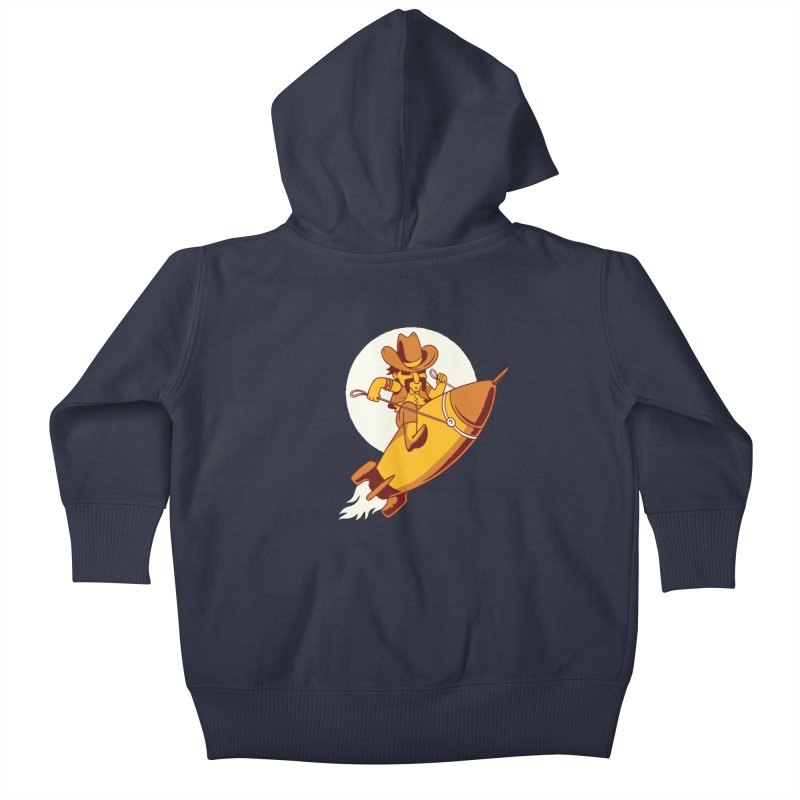 Space Cowboy Kids Baby Zip-Up Hoody by Toxic Onion