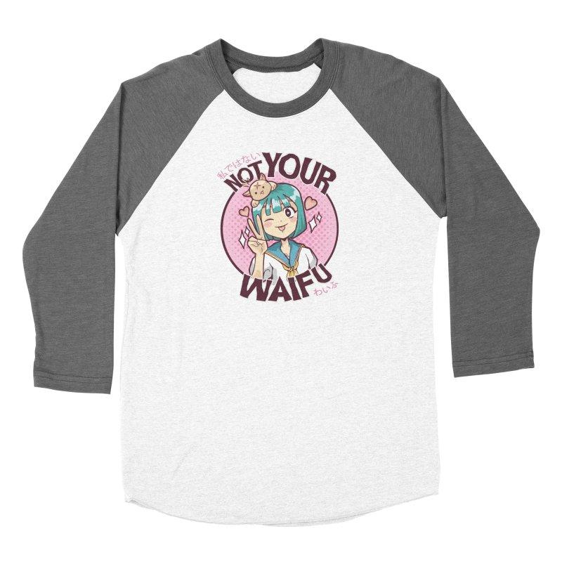 Not Your Waifu Women's Baseball Triblend Longsleeve T-Shirt by Toxic Onion