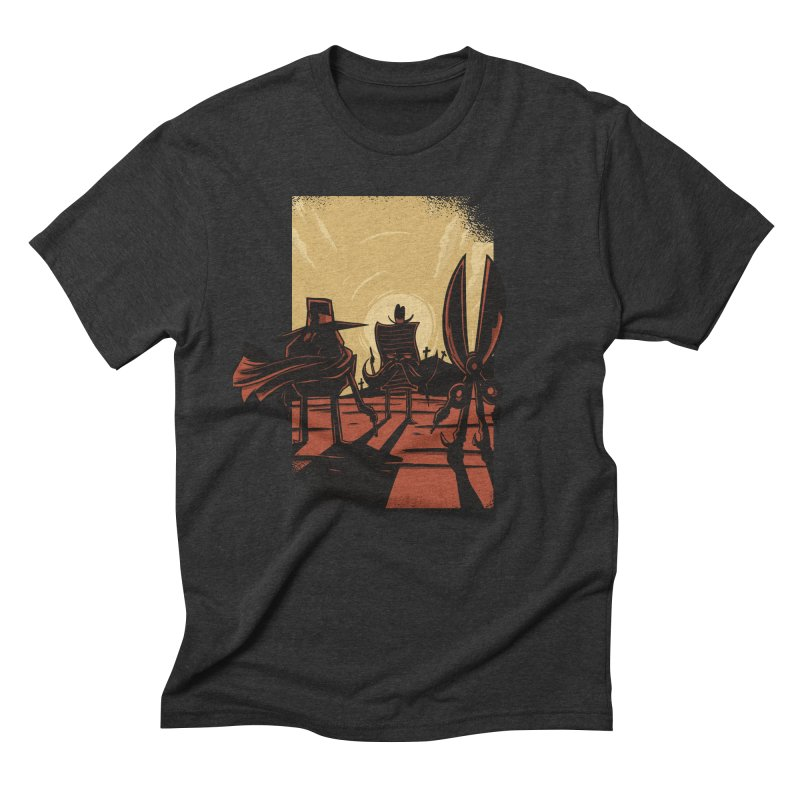 Rock Paper Scissors Men's Triblend T-Shirt by Toxic Onion