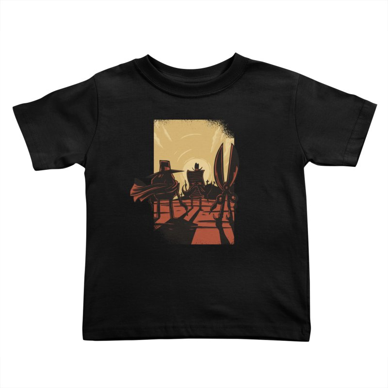 Rock Paper Scissors Kids Toddler T-Shirt by Toxic Onion