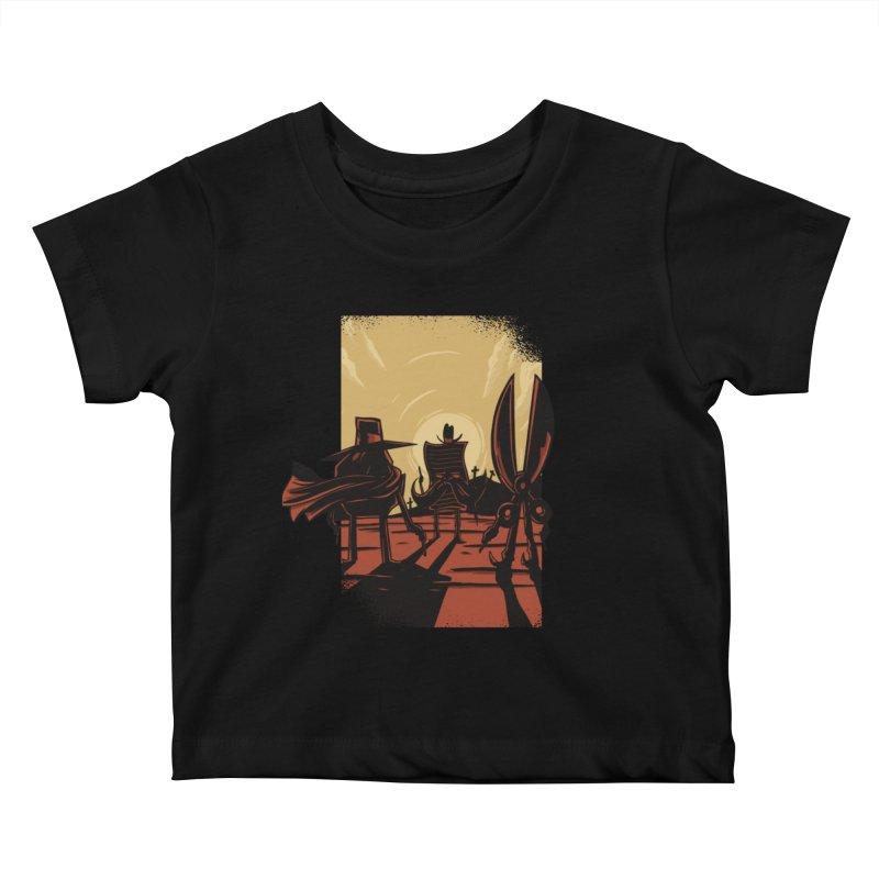 Rock Paper Scissors Kids Baby T-Shirt by Toxic Onion